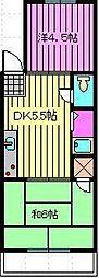 陽光台ハイツ[206号室]の間取り