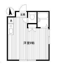 元町ガーデン3[201号室]の間取り