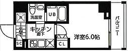 横浜市営地下鉄ブルーライン 吉野町駅 徒歩3分の賃貸マンション 3階1Kの間取り