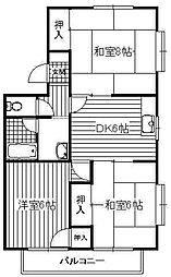 瀬戸タウン[B201号室]の間取り
