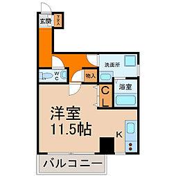 愛知県名古屋市中村区則武2丁目の賃貸マンションの間取り