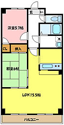 埼玉県さいたま市浦和区上木崎4丁目の賃貸マンションの間取り