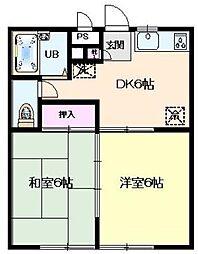 ベルメゾン金子[2階]の間取り