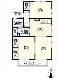 ファミール京町 B[2階]の間取り