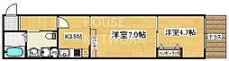 ドーリアNIJO駅東[1-B号室号室]の間取り