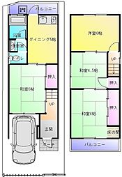 [一戸建] 大阪府八尾市垣内5丁目 の賃貸【/】の間取り