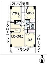 ラピスラズリTN[4階]の間取り