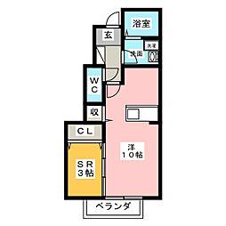 ローズコート亀が洞[1階]の間取り
