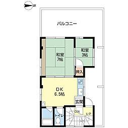 プリティマンション[3階]の間取り