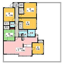 ロフティ春日井II[6階]の間取り