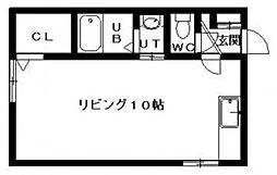 プラザ館A[301号室]の間取り