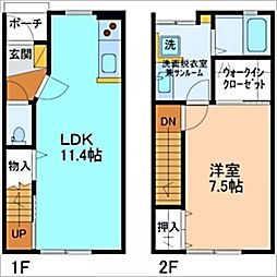 L Arc  D棟[D-2号室]の間取り