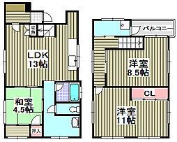 [一戸建] 大阪府阪南市下出 の賃貸【/】の間取り