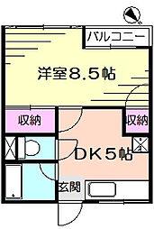 浜田ビル[2階]の間取り