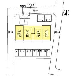 (仮)D‐room桜区下大久保[202号室]の外観