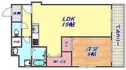 兵庫県神戸市灘区倉石通2丁目の賃貸マンションの間取り