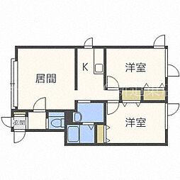 アルファ21[2階]の間取り