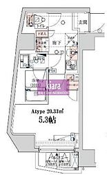 ベルシード横濱ウエスト[5階]の間取り