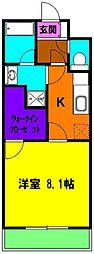 静岡県浜松市東区将監町の賃貸マンションの間取り
