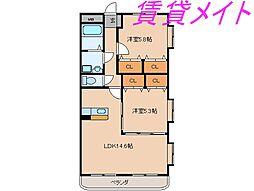 ピュアタウンII[3階]の間取り