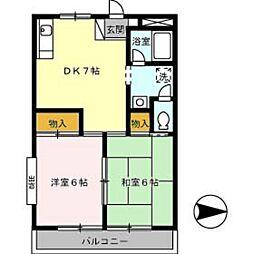 ベルパルク[2階]の間取り