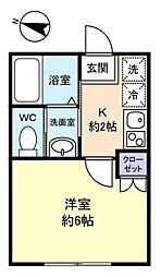 フォレストハウス習志野B棟[2階]の間取り