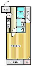 大阪府大阪市住之江区北加賀屋5の賃貸アパートの間取り