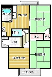 ガーデンシティハイツA〜E棟[2階]の間取り