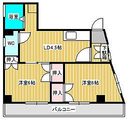 一富士マンション[4階]の間取り