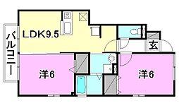 プルミエール A棟B棟[A102 号室号室]の間取り
