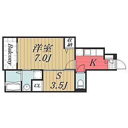 千葉県成田市久住中央3丁目の賃貸アパートの間取り