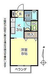 セジュール新川[1階]の間取り