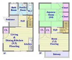 [一戸建] 兵庫県神戸市垂水区星が丘2丁目 の賃貸【兵庫県 / 神戸市垂水区】の間取り