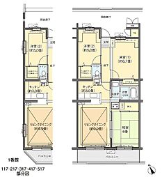 フロール川崎古市場[1-416号室]の間取り