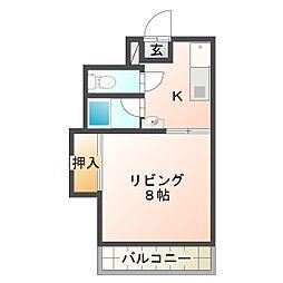 サクセスマンション[206号室]の間取り