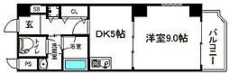 大阪府大阪市中央区谷町5丁目の賃貸マンションの間取り