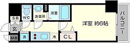プレサンス北堀江[9階]の間取り