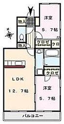 MIMOSA COMFORT[203号室]の間取り
