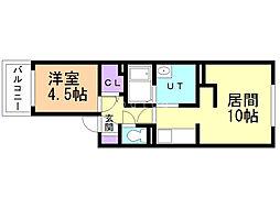 Mimoort(ミモート) 3階1LDKの間取り