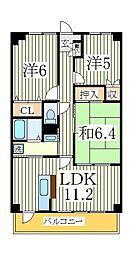 デセンシア柏[4階]の間取り