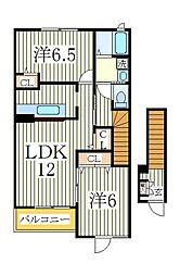 ヒルサイドコートA[2階]の間取り