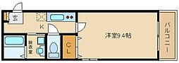 大阪府富田林市本町の賃貸アパートの間取り