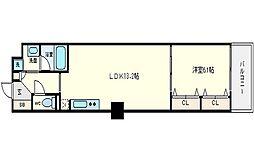 ブラービ南船場[5階]の間取り