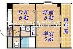 若杉ロイヤルマンション[1階]の間取り