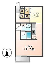 ルミナスパレス名駅[2階]の間取り