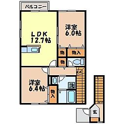ミルトハウス:D[2階]の間取り