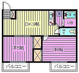 プラザ大和田[402号室]の間取り