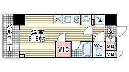 アスヴェル神戸駅前[602号室]の間取り