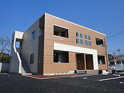 栃木県下野市文教2丁目の賃貸アパートの外観