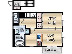 グリュックガッセ[2階]の間取り